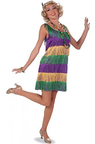 [8eighteen Mardi Gras Frisky Fashion Flapper Adult Costume] (Dog Costumes For Mardi Gras)