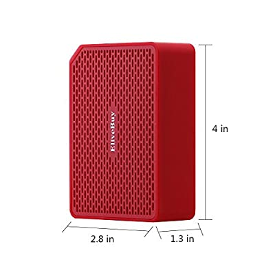 Elivebuy® Waterproof Rugged Wireless Bluetooth 3.0 Outdoor / Shower 5W Driver Speaker, Handsfree Portable Speakerphone with Built-in Mic, Control Buttons and Dedicated Removable Suction Cup for Showers, Bathroom, Pool, Boat, Car, Beach, & Outdoor Use Com