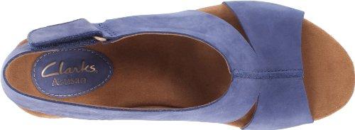 Clarks Womens Caslynn Lizzie Wedge Sandal Blue bAyjdrgQr
