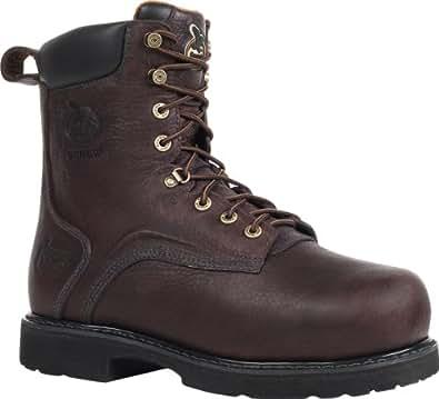 """Georgia Men's 8"""" Thermal-Tec Steel Toe WP Internal Metatarsal Work Boot-G9352 (M10.5)"""
