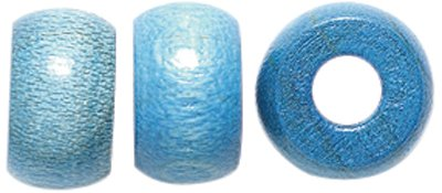 Shipwreck Beads Preciosa Czech Traditional Opaque Wood Crow Beads, 6 by 10mm, Blue 10WC174-C