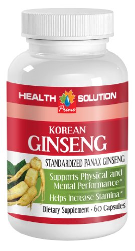 Mood enhancement supplement - KOREAN GINSENG 350mg - Ginseng capsules panax - 1 Bottle 60 Capsules