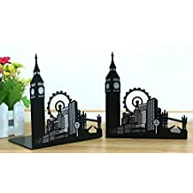 Fancyus London City Big Ben Ferris Wheel Nonskid Bookends, 1 Pair