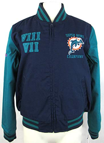 G-III Sports Womens Miami Dolphins Full Zip Up Reversible 2X Superbowl Champions Jacket, Size XL/Extra Large - Miami Dolphins Reversible Jacket