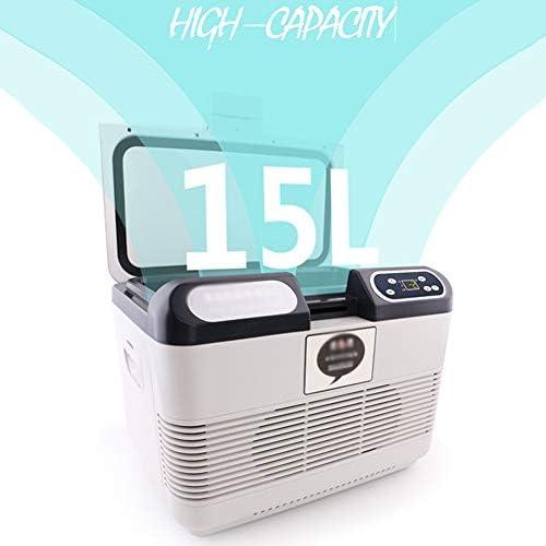 ミニ冷蔵庫、ポータブル熱電システム、15Lサイレントミニバー、ベッドルーム、ホテル、ゲストハウス用の電気クーラーとウォーマー35 * 25 * 17.5cm