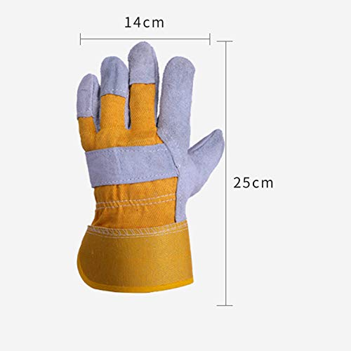 AINIYF Gloves High Temperature Stove Long Lined Work safety gloves, gardening barbecue Welders Gauntlets (Size : 8 pairs) by AINIYF (Image #2)
