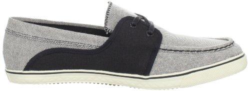 Diesel Malory Men bianco nero Canvas Deck Loafer Boat Shoes