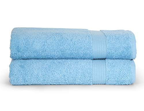 TowelSelections Sunshine Collection Soft Towels 100% Turkish Cotton 2 Bath Towels Sky Blue (Towels Yellow Blue And)