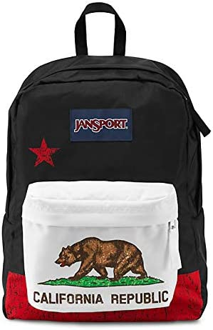 Classic Jansport Superbreak Backpack Red New California Republic T50109P