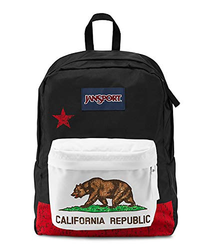 Classic Jansport Superbreak Backpack (Red New California Republic (T50109P)) by  (Image #1)