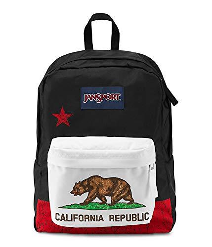 Classic Jansport Superbreak Backpack (Red New California Republic (T50109P))