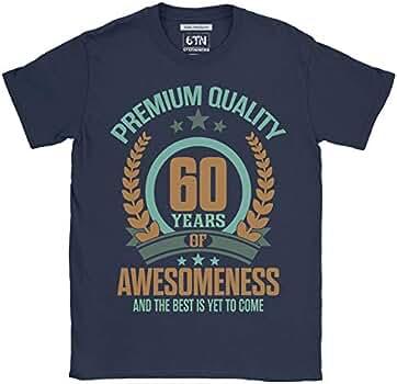 6TN Hombre 60 años de Asombroso y lo Mejor está por Llegar 60 años Camiseta de cumpleaños