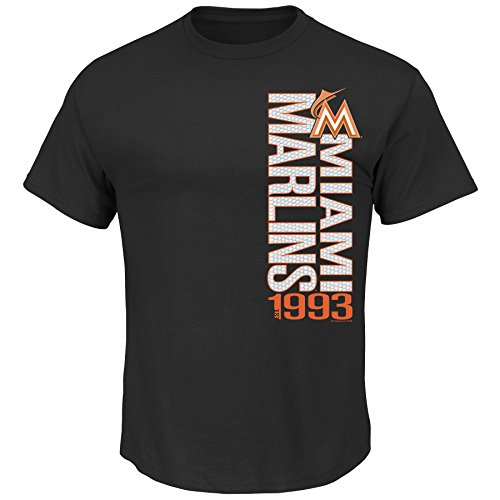 MLB Miami Marlins Men's Our Game Tee, Large, Black
