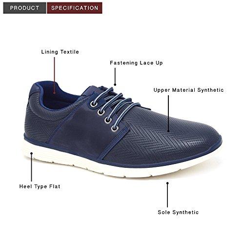 Chaussures Formel noir xelay Hommes cuir Décontracté bleu NEUF à doubléélégant 11 taille jean 6 brun lacets UK xww08