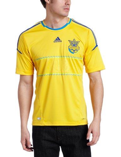 Ukraine Home Authentic Soccer Jersey, Medium