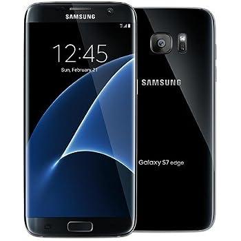 Samsung Galaxy S7 Edge Dual Sim Factory Unlocked Phone 32 GB - Internationally Sourced (Middle East/Africa/Asia) Version G935FD- Black Oynx