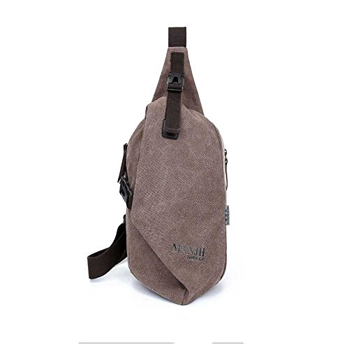 Chest Bag Casual Sports Shoulder Diagonal Fangyou1314 Canvas Outdoor Unisex 6Txqw4t