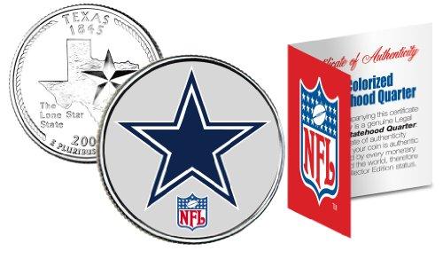 DALLAS COWBOYS NFL Texas U.S. Statehood Quarter U.S. Coin *Licensed* ()