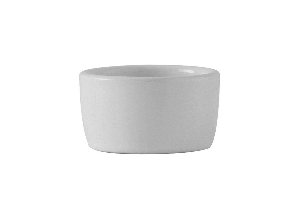 Tuxton BWX-0203 Vitrified China Pipkin, 2 oz, 2-1/2, White (Pack of 48),
