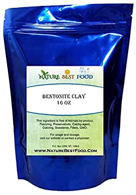 BENTONITE CLAY (1 LB) 100% Pure Extra Fine Powder - Food-Grade - Excellent Skin Cleanse by Pure Life Nutrients