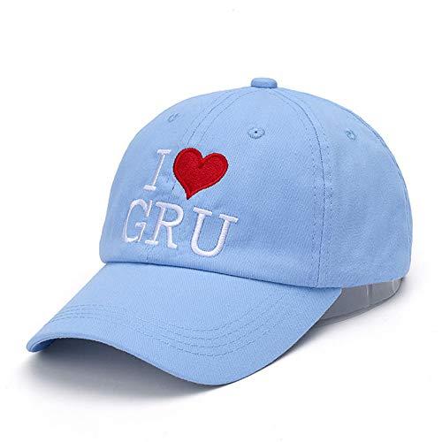 JKYJYJ Baseball Cap I Love Gru Letter Adult Cotton Baseball Cap Lovely Hip Hop Dad Hat for Men & Women Casual Hat -