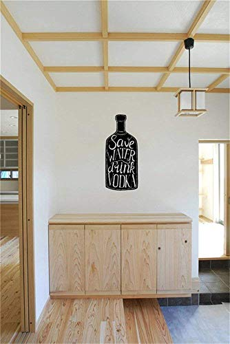 Wall Decal Art Save Water Drink Vodka Home Wall Sticker for Bedroom Living Room