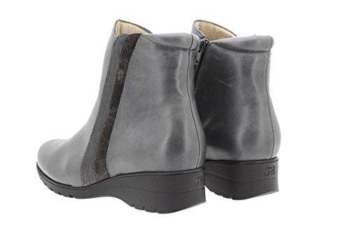 9973 Confort Cuir Piesanto Gris Amples Confortables Chaussure Femme Botte En wEqwWXvOI