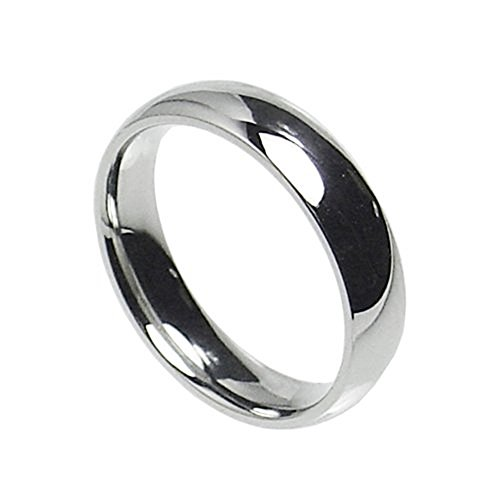 6mm Stainless Steel Comfort Fit Plain Wedding Band Ring Size 5-14 (6) 6mm Ladies Wedding Band