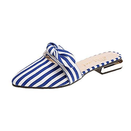 Bon Soir Women's Heel Slide on Sandals Slip on Slide Stacked Low Mule Slippers Parent B07FSNN6ND 0ee6b9