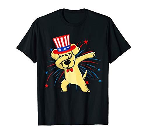 Dabbing Labrador Retriever Firework 4th Of July Tshirt Gifts