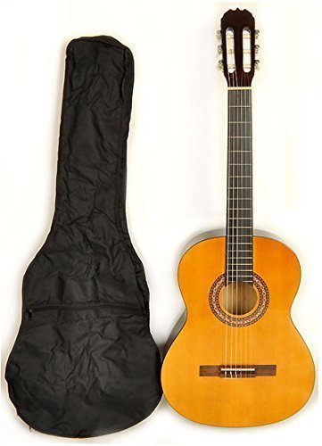 Classical Acoustic Guitar full size (38 inch) nylon string Omega Class Kit 1 w/Carry Bag -