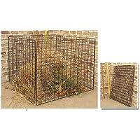RAMROXX 34182 Metall Komposter Biomüll Drahtkomposter Stahlgitter pulverbeschichtet