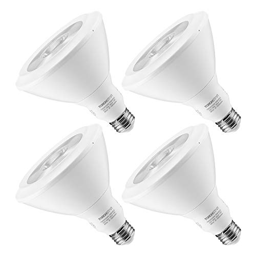 TORCHSTAR 18W Dimmable PAR38 LED Light Bulb, Energy Star UL-Listed Spotlight, 120W Equivalent, 5000K Daylight, 1250LM for Stage, Scene, Event, Residential, Commercial, General Lighting, Pack of 4