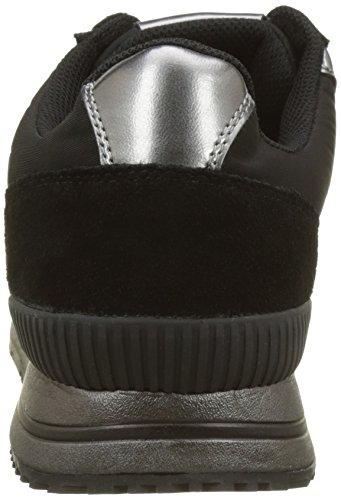 Estez Uomo Suede Calvin Smooth pewter black Sneaker Multicolore nylon Klein metal q5gRA0