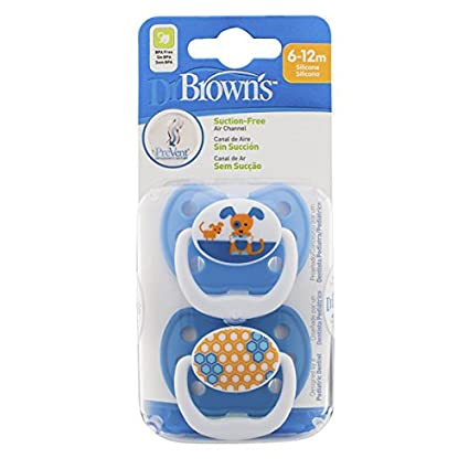 Dr. Browns Prevent Classic - Chupete, T1 0-6 meses, colores surtidos