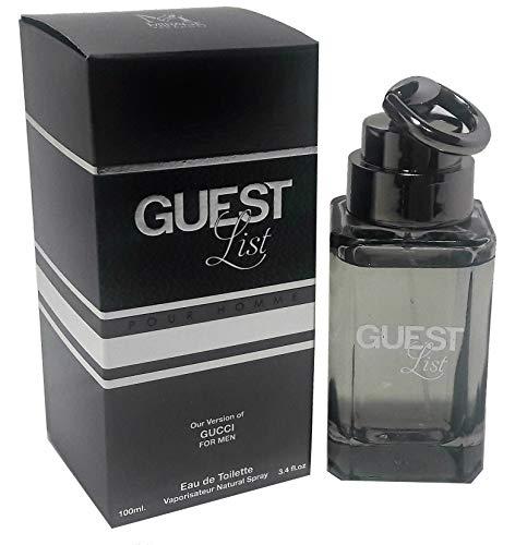 Guest List Cologne 3.4 fl. oz. EDT For Men By Mirage Brands Spray Fragrance