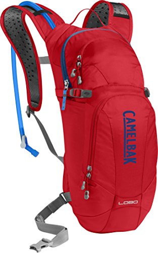 CamelBak Lobo Crux Reservoir Hydration Pack, Racing Red/Pitch Blue, 3 L/100 oz