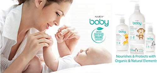 NVEY ECO Gentle Bath & Body Wash: Organic Ingrediants, Infant Safe, All Natural Cleaner for Kids + Tear Free, 8.45oz