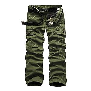 Hiver Hommes Cargo Pantalon Plus Velours Épaissir Garde Au Chaud Loisir Pantalons Droit Multi-Poches Pantalon de Travail