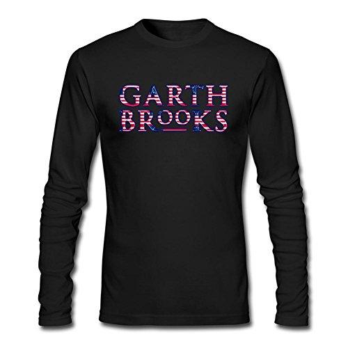 LSLEEVE Men's Garth Brooks Long Sleeve T-shirt Black XXL