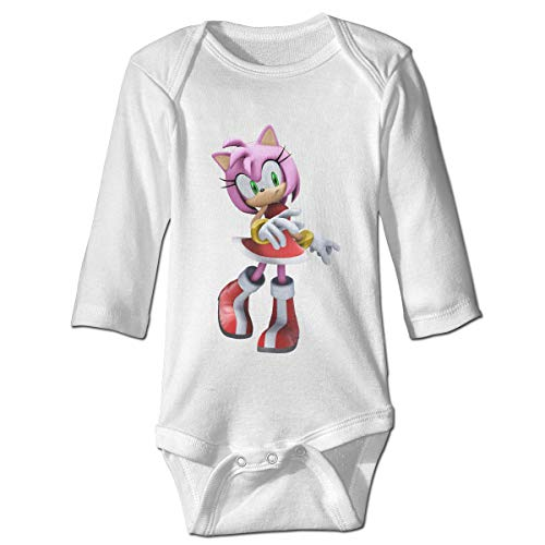 MDClothI Babys Sonic Hedgehog Amy Rose Classic Comfortable Long Sleeve Jumpsuit Outfits -