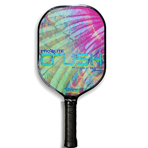 Prolite Crush Power Spin with SPINtac Pickleball Paddle (Snow)