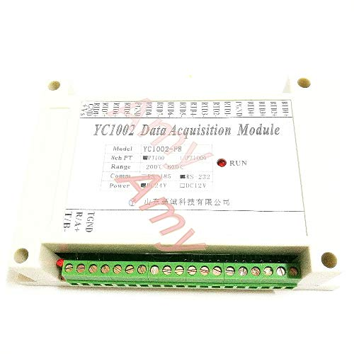 Lysee High precision multi-channel 8 way PT100 PT1000 thermal resistance temperature acquisition module temperature transmitter - (Color: Upgrad6 PT input - 485 Module Transmitter