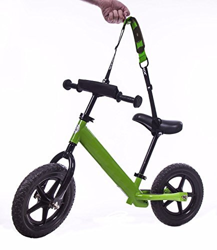 Carrying Shoulder Strap For Kids Balance Bike Joker Match for Boy and Girl Bicycle Very Easy To Install Make Your Hands Free Experience Now! (Green) …