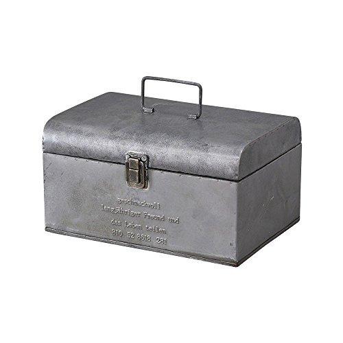 (Time Concept Geshmack Metal Iron Antique Style Storage - Small Tool Box - European Retro Inspired, Tinplate Home Décor)