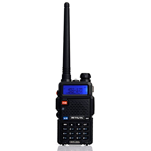 Retevis RT-5R 2 Way Radio 5W 128CH Dual Band UHF/VHF 400-520MHz/136-174MHZ FM Walkie Talkies (6 Pack) and Programming Cable by Retevis (Image #6)