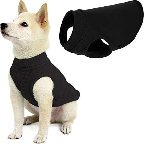 Gooby Stretch Fleece Dog Vest – Pullover Fleece Dog Sweater – Warm Dog Jacket Winter Dog Clothes Sweater Vest – Dog…