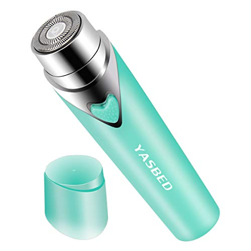 Facial Hair Removal for Women, Painless Hair Remover Lady Trimmer Peach Fuzz Electric Shaver Razor for Face Hair, Upper, Lip, Cheek, Body, Portable Pocket Blue Color (Blue)