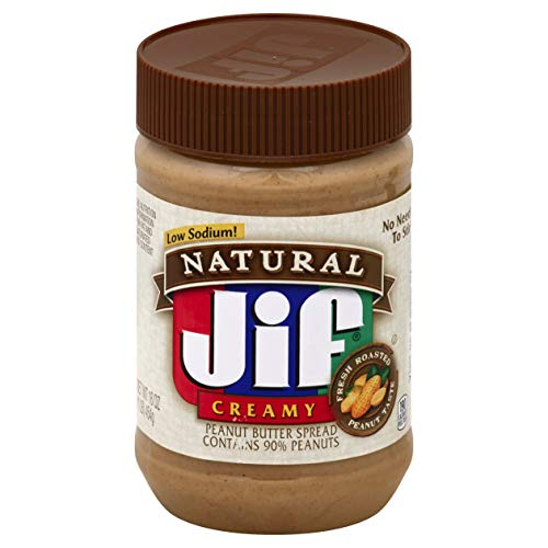 Jif Natural Creamy Peanut Butter Spread, 12 Count
