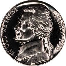 1956 P Jefferson Proof Nickel PF1 US Mint